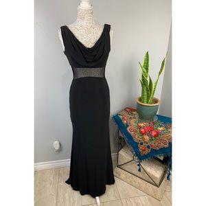Badgley Mischka Black Mesh gown